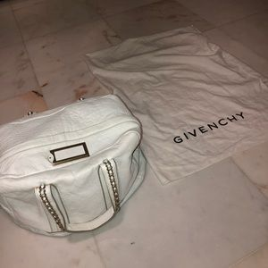 Givenchy White Leather Handle Bag